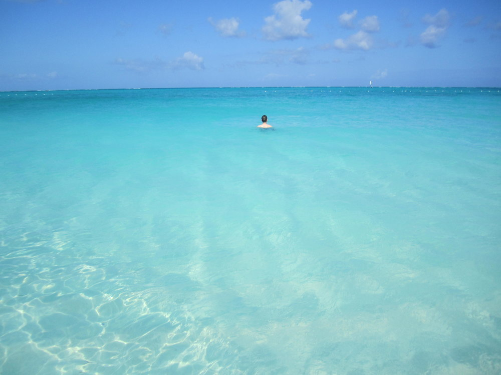 The best beach for adult swimming:Grace Bay.