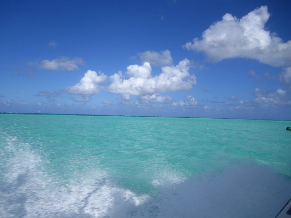 Boat ride over to the North Caicos.