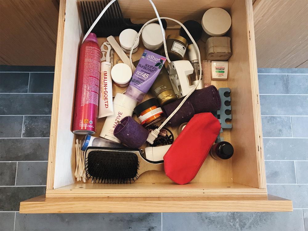 My bathroom drawer before...