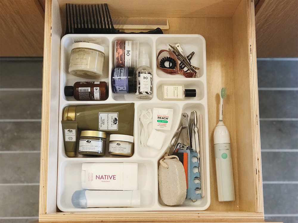 And after! Only stocked with items I use regularly.