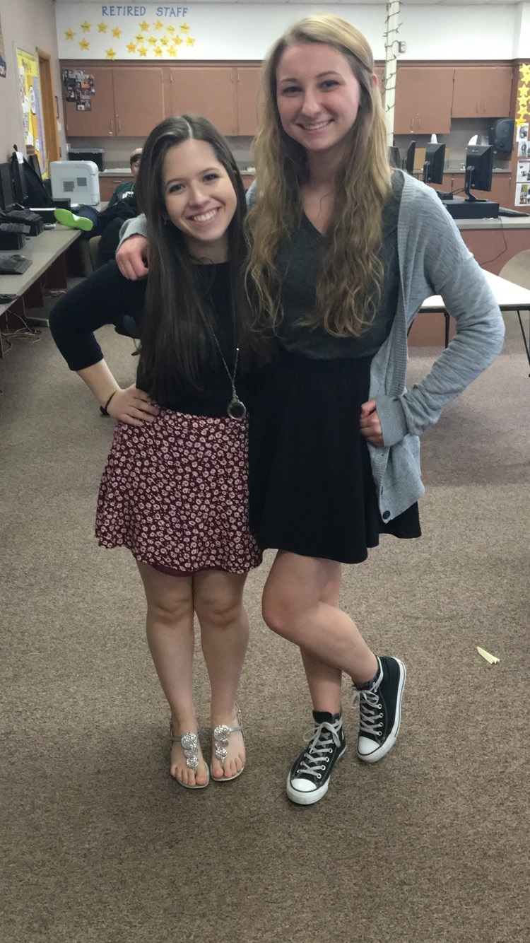 Madison with her co-editor-in-chief Morgan Gonsoski.