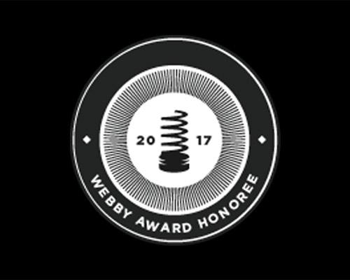 2017 WEBBY HONOREE