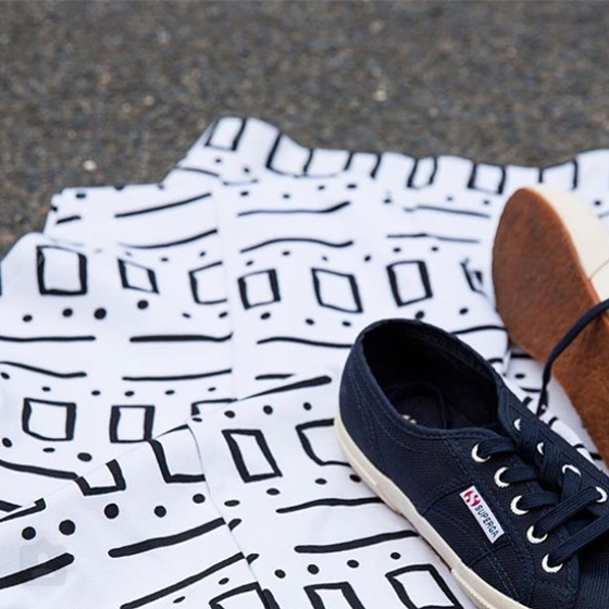 Classic sneaker label Super GA feature The Fifth Label 'Sticks and Stones Print'.