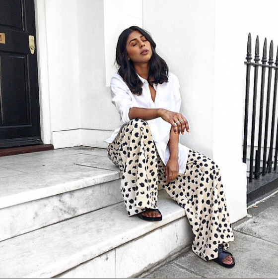 BNKR Style Innovator Monikh pairs her white shirt with C/MEO COLLECTIVE.