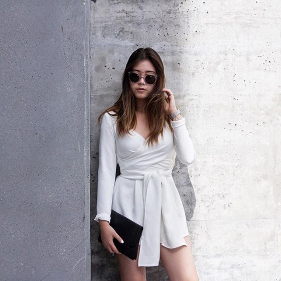 Chantal Li wears The Fifth Label Just For Now Playsuit.