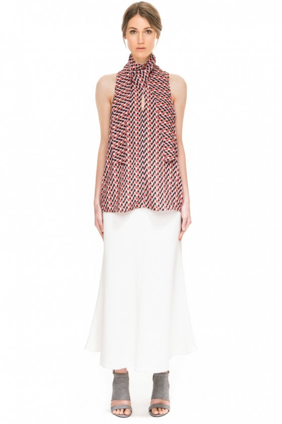Shop C/MEO COLLECTIVE Hold Back Top + First Thing Skirt.