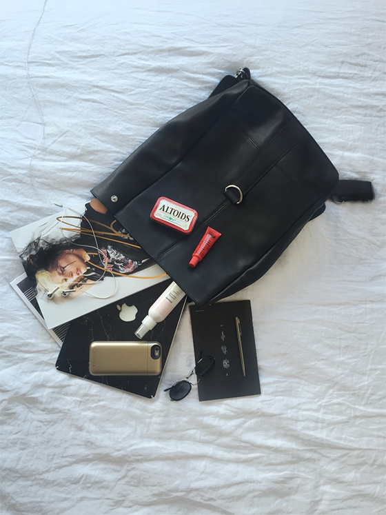 Travel essentials care of serious PR babe Kendall Sargent.