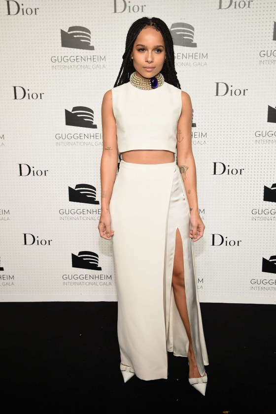 Zoe Kravitz NYC Dior at Guggenheim