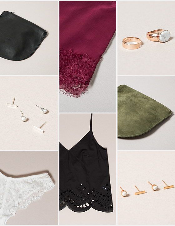 SHOP THE GIFT GUIDE. Featured above: Baggu, Damsel Fly + Keepsake Intimates.