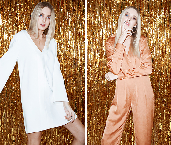 Left: The Fifth Label Now You See Me Dress Right: The Fifth Label Stay Awhile Jumpsuit.