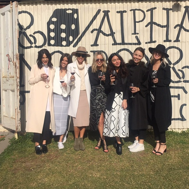 @keepsakethelabel team with @aishajade at Alpha Box and Dice Winery.