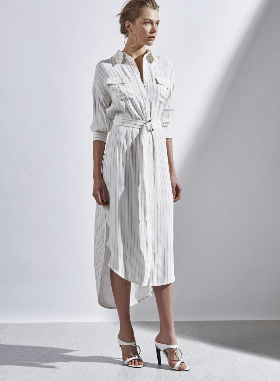 Shop C/MEO COLLECTIVE On Point Stripe Shirt Dress.