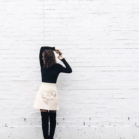 @umyeahthanks_  wears Finders Keepers The Label One Step Skirt.