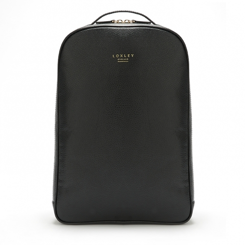 Loxely England Mini Gloucester Rucksack in Glossy Black.