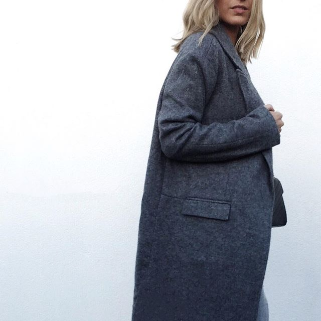 @mollysmyth wears the C/MEO COLLECTIVE Empire Coat.