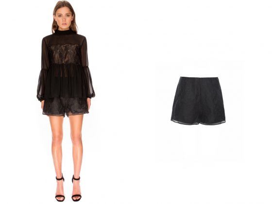 Shop Keepsake The Label Sundream Lace  L/S Top + Shorts.