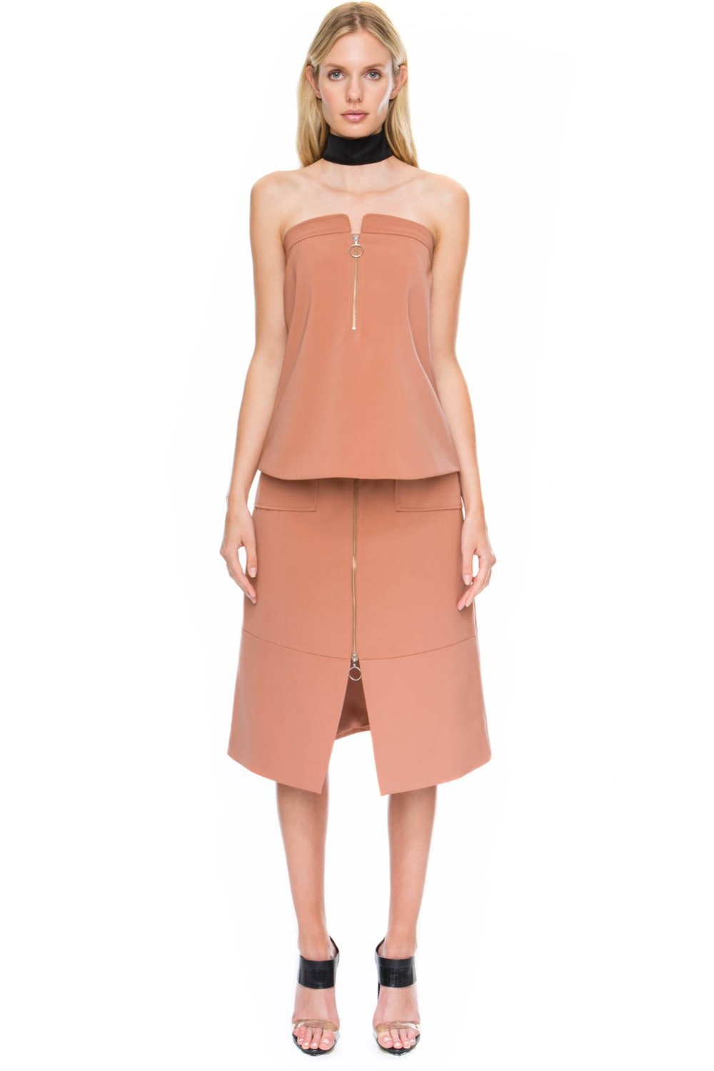 Shop C/MEO COLLECTIVE Distant Land Top and Skirt.