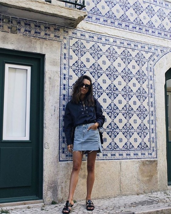 @deborabrosa wears C/MEO COLLECTIVE  A Little Soul Shirt