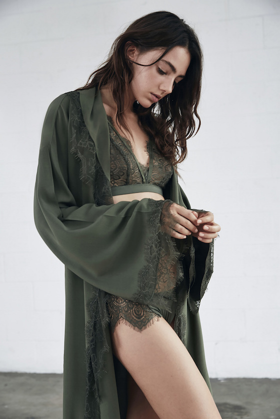 Shop Keepsake Intimates Electric Love Robe + Abby Bralete and Brief.