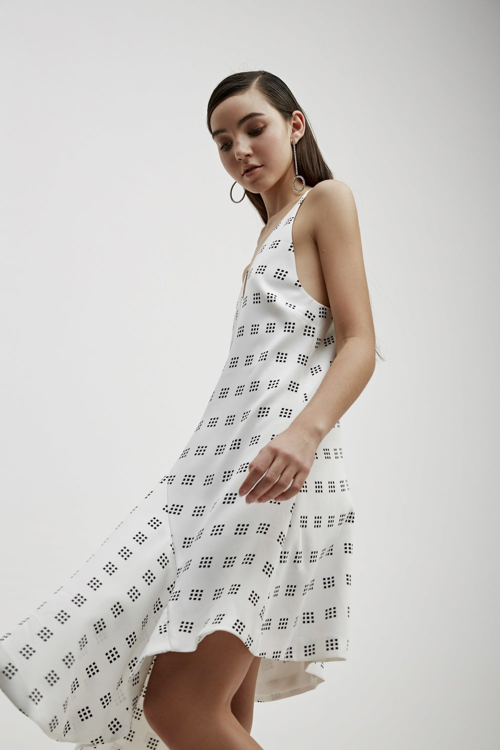 C/MEO Spelt Out Print Dress