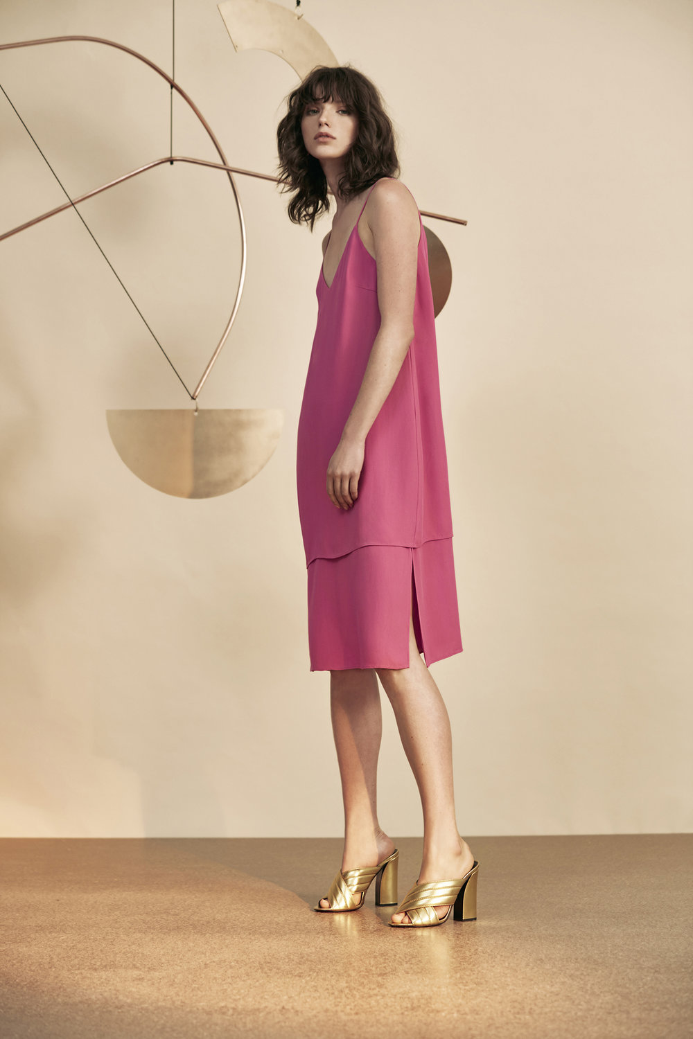C/MEO COLLECTIVE Never Be Short Sleeve Dress