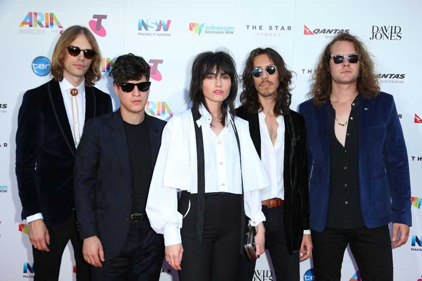 The Preatures. Looking just like a rock 'n' roll band should.