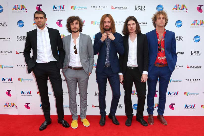 The Tame Impala boys scrub up okay.