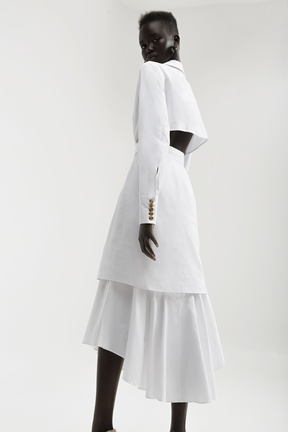 C/MEO  Into You Shirt Dress  +  Shirting Skirt .