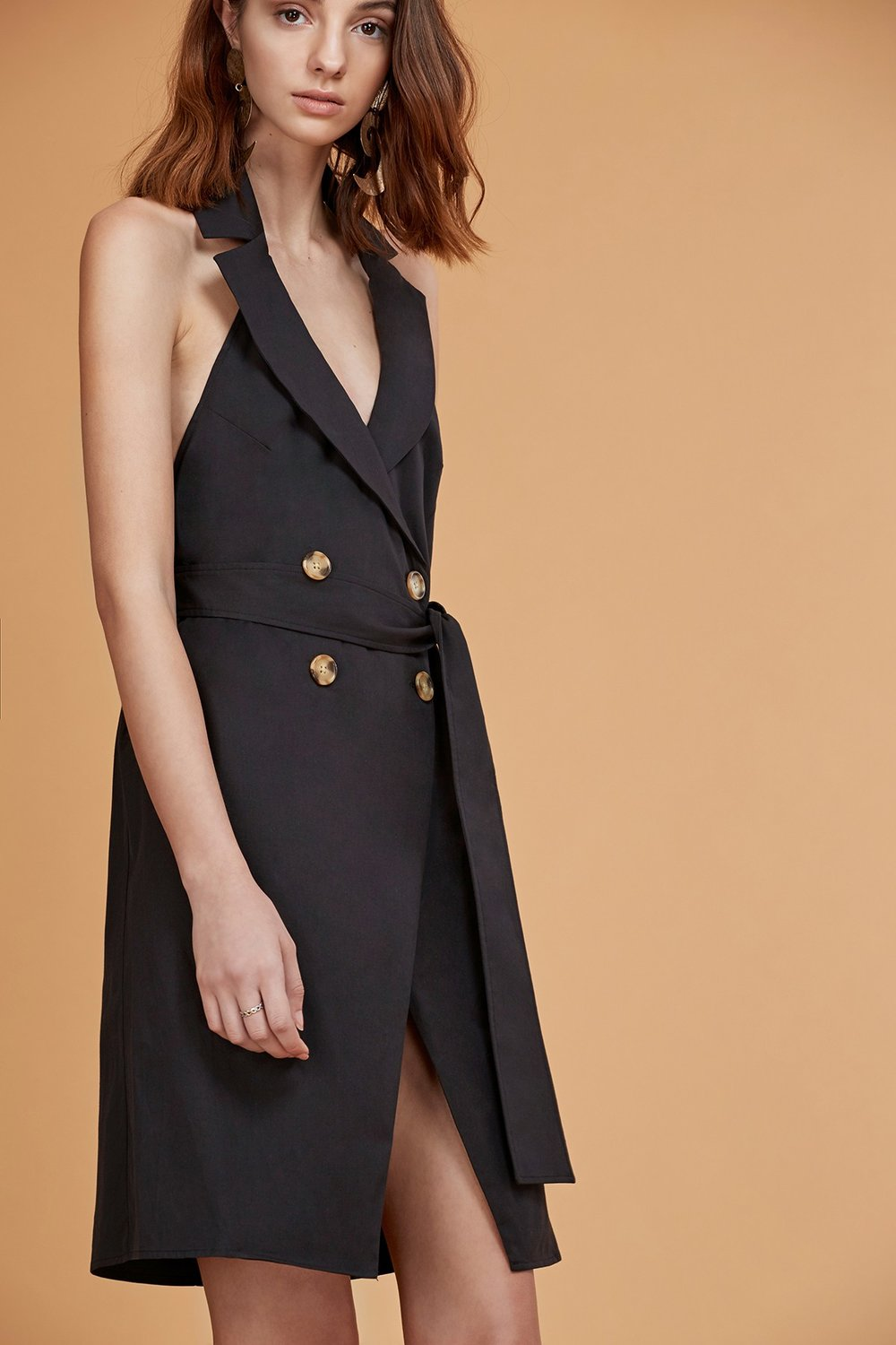 C/MEO Into You Halter Shirt Dress.