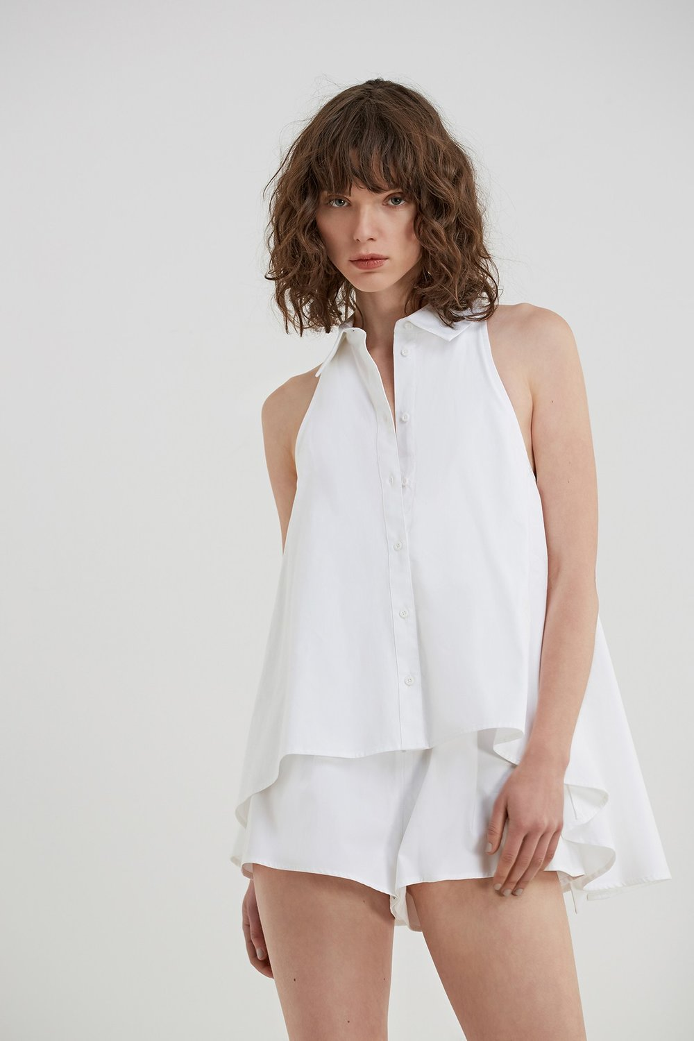 C/MEO COLLECTIVE String Along Shirting Playsuit.