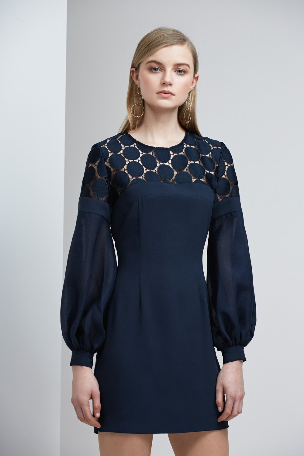 Shop Keepsake Spectrum L/S Lace Mini Dress.