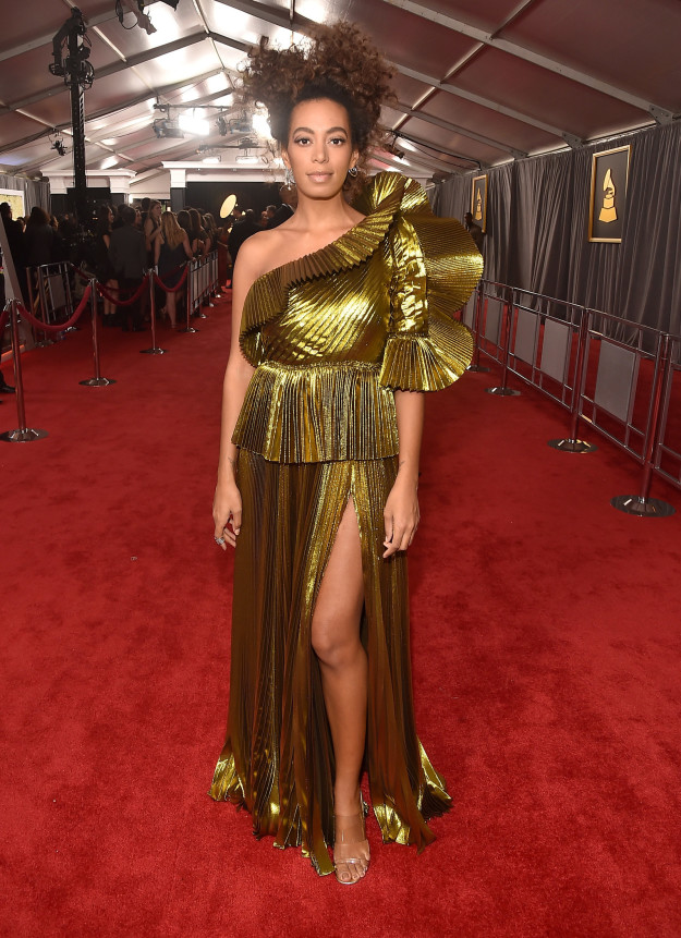 Solange - Gold and glorious. Solange gets it every time.