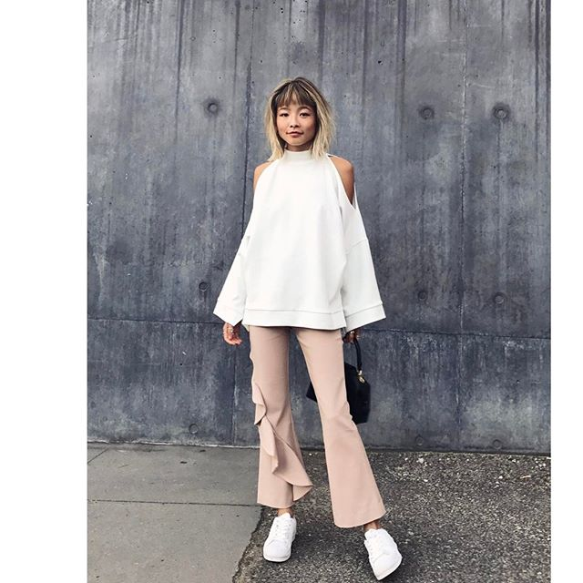 Yan Yan Chan wears the C/MEO COLLECTIVE Replay Pant (available April). Via @_yanyanchan.