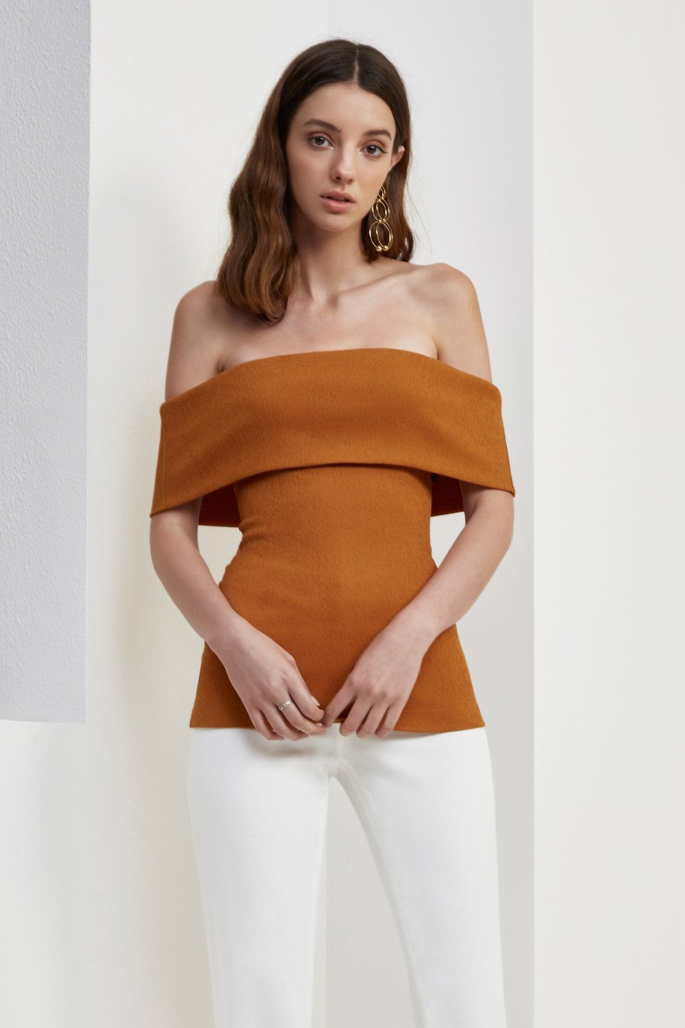 C/MEO COLLECTIVE Interlude Off Shoulder Top