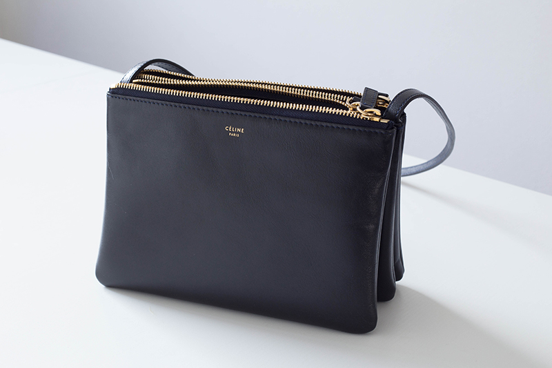 Celine Leather Trio Cross-Body Bag