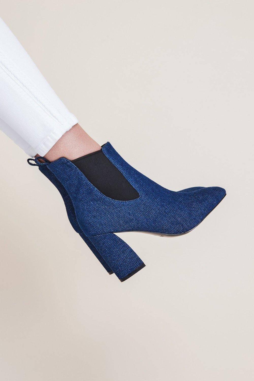 Shop JAGGAR Apieces Denim Boot.