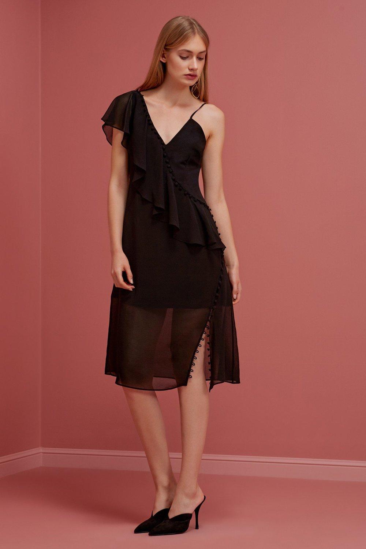 Shop Keepsake Morning Rain Midi Dress.