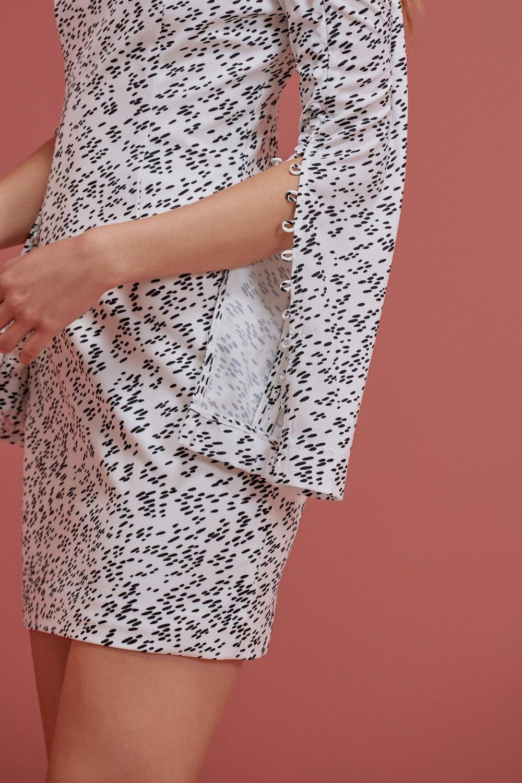 Shop Keepsake Morning Rain Mini Dress.