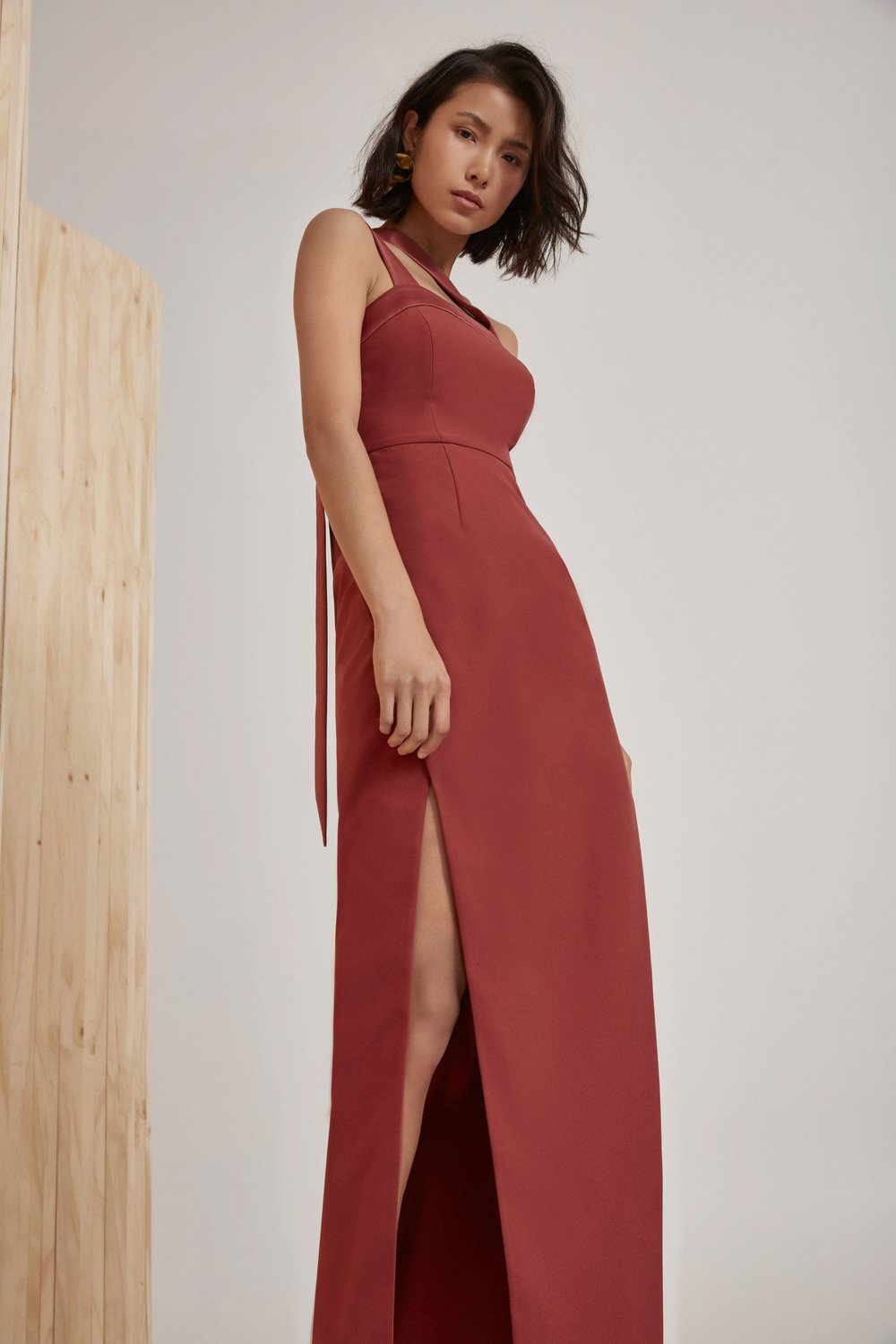 Shop C/MEO Bound Together Full Length Dress.