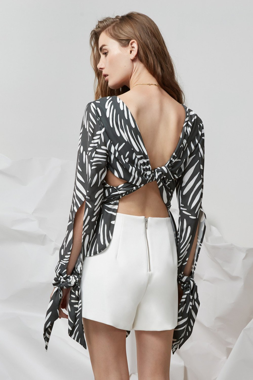 Shop Finders I Spy Tie Back Long Sleeve Top.