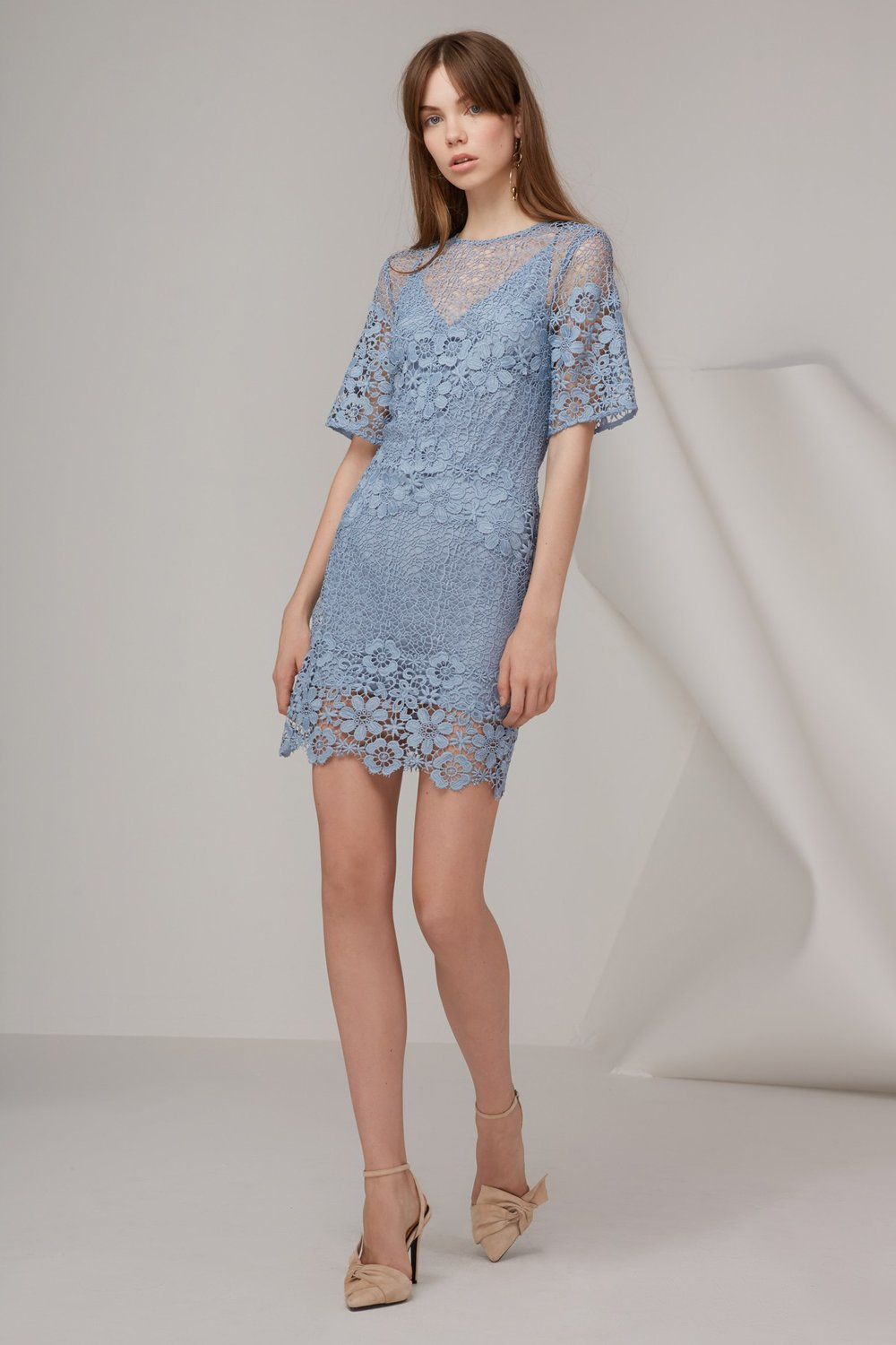 keepsake lace mini dress