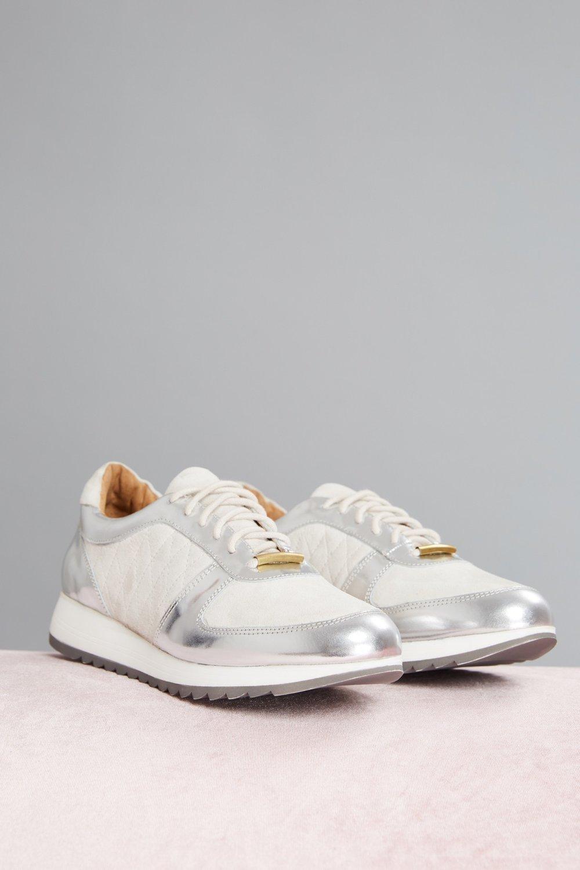 Shop Jaggar Quilted Metallic Sneaker.