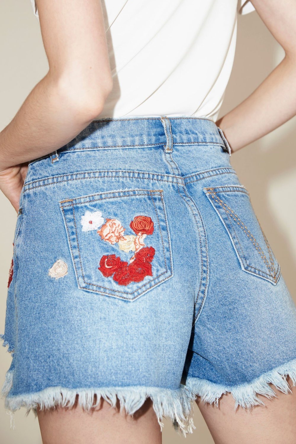 Shop The Fifth Dallas Embroidered Shorts.