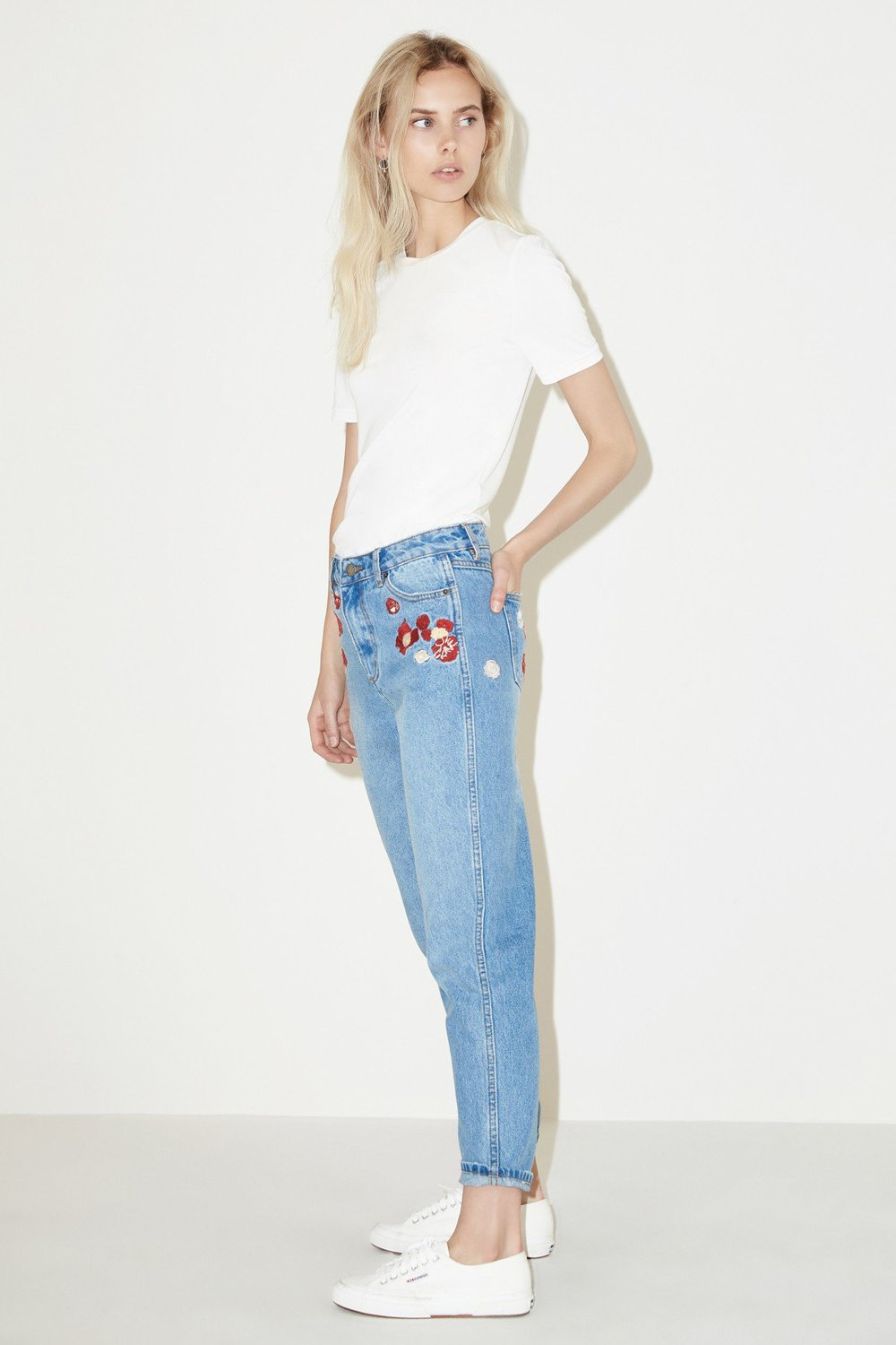 Shop The Fifth Bianca Embroidered Jean.