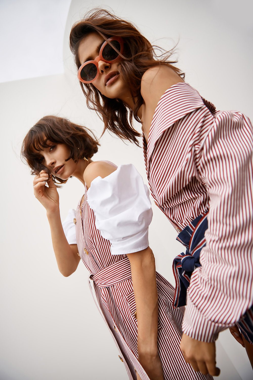 Shop  C/MEO Lift Me S/S Top  + Follow Me Dress (coming soon);  Follow Me Shirt .
