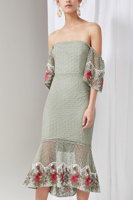 Shop Keepsake Rosebud Midi Dress.