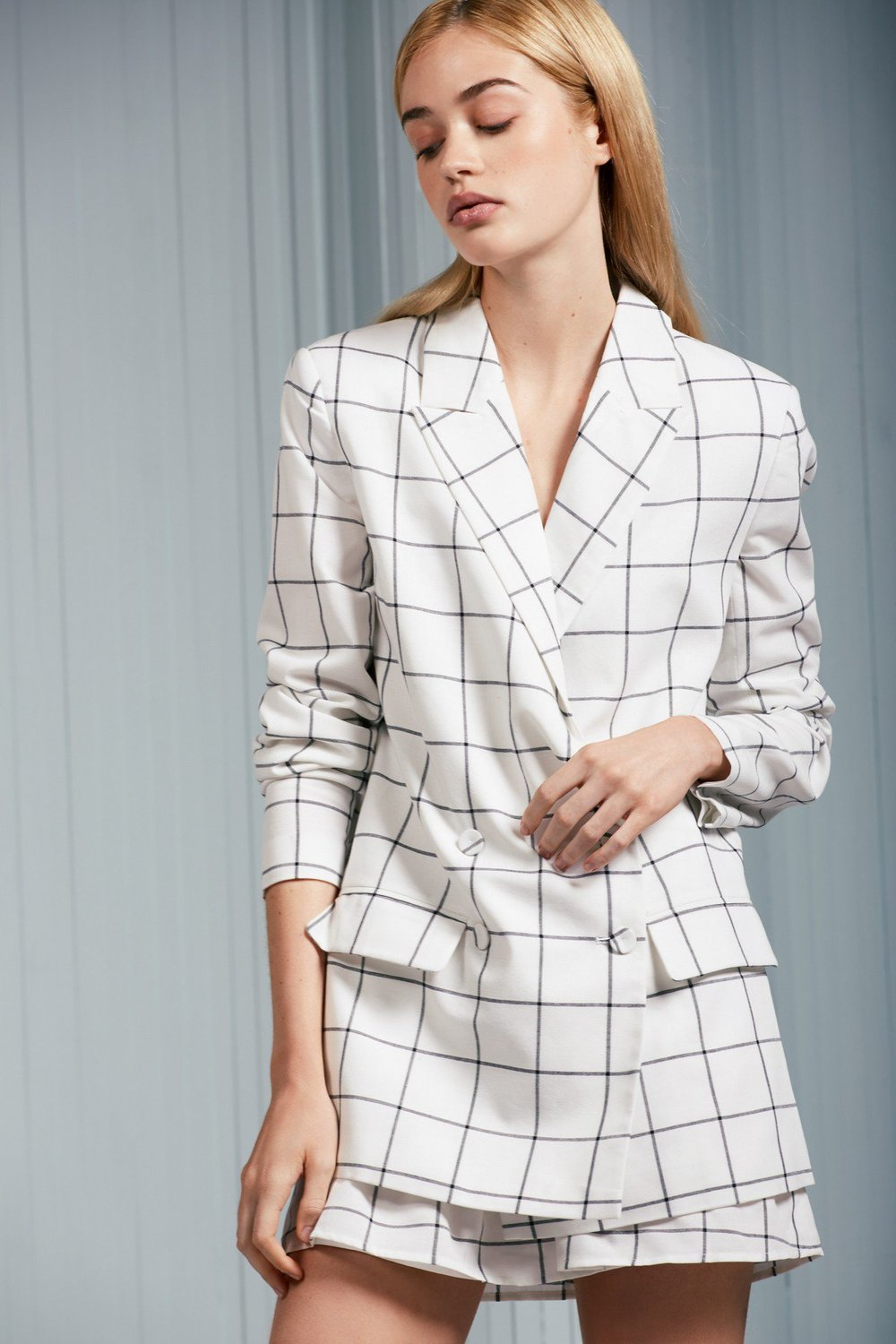 Shop The Fifth Atticus Check Blazer.