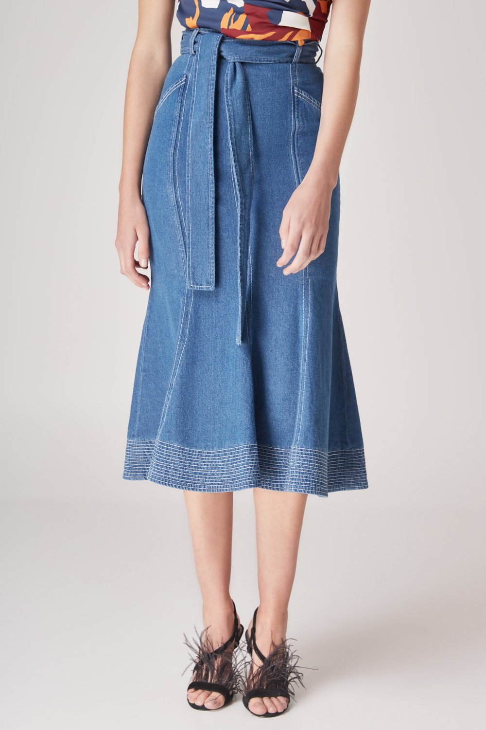 C/MEO Collective Perpetual Dreams Midi Skirt