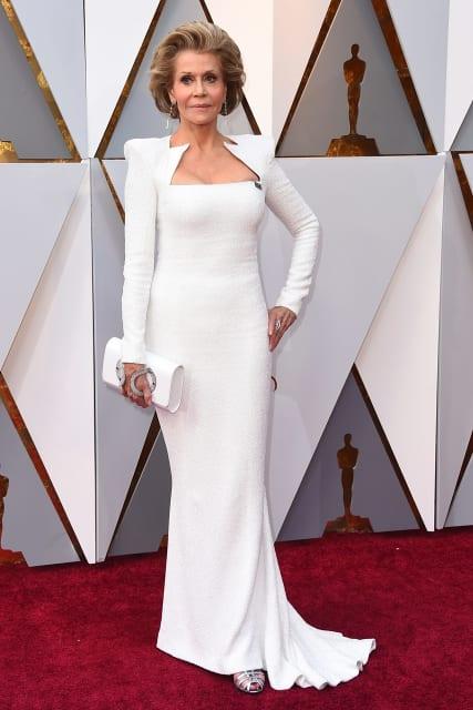 Jane Fonda in Balmain.Image:Jordan Strauss.