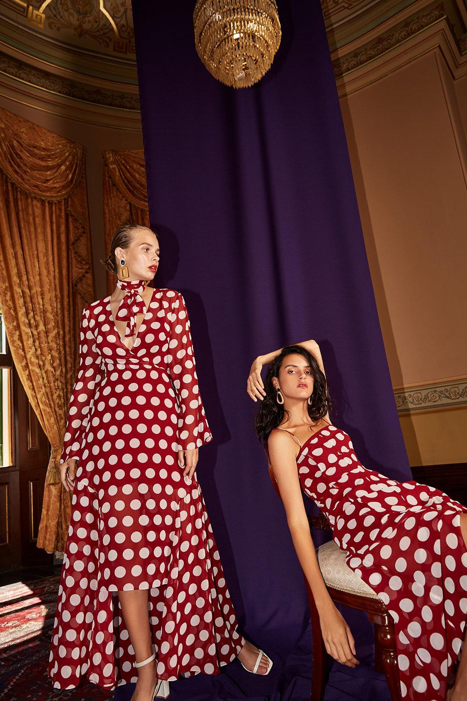 Shop  C/MEO Unending Gown  +  Unending SS Midi Dress .
